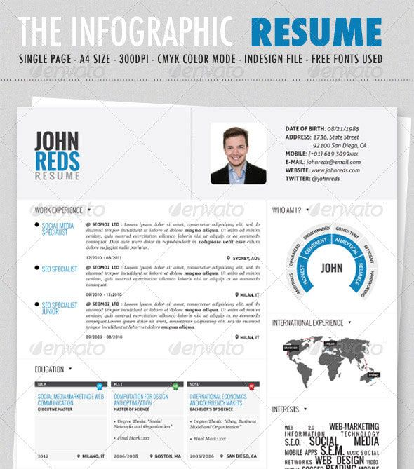 34 best Work Ideas images on Pinterest Proposal templates - visual resume templates