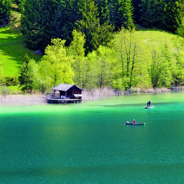 Turquoise alpine lake- Weissensee#Carinthia#Austria
