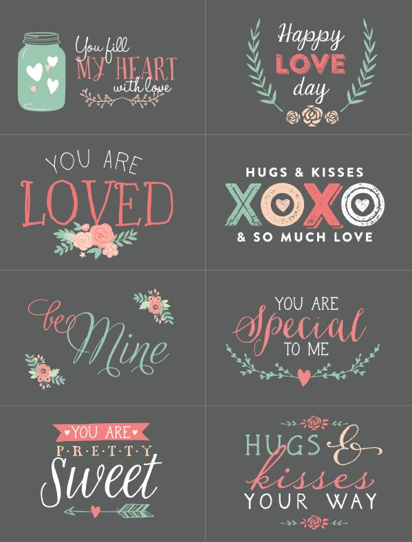 Free Valentines Day Labels to Print.