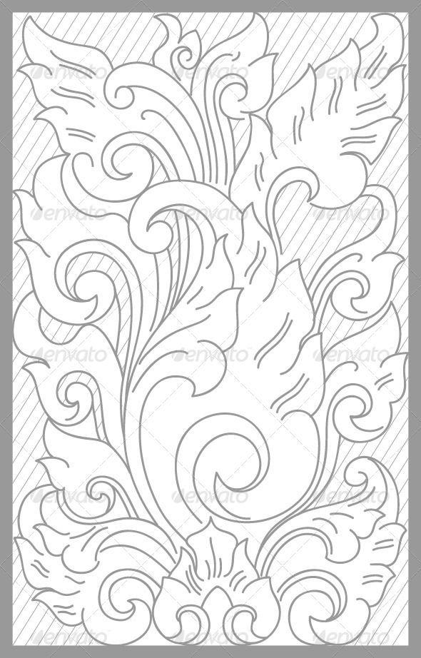 Матарам Цветочные набор - Декоративные Векторы