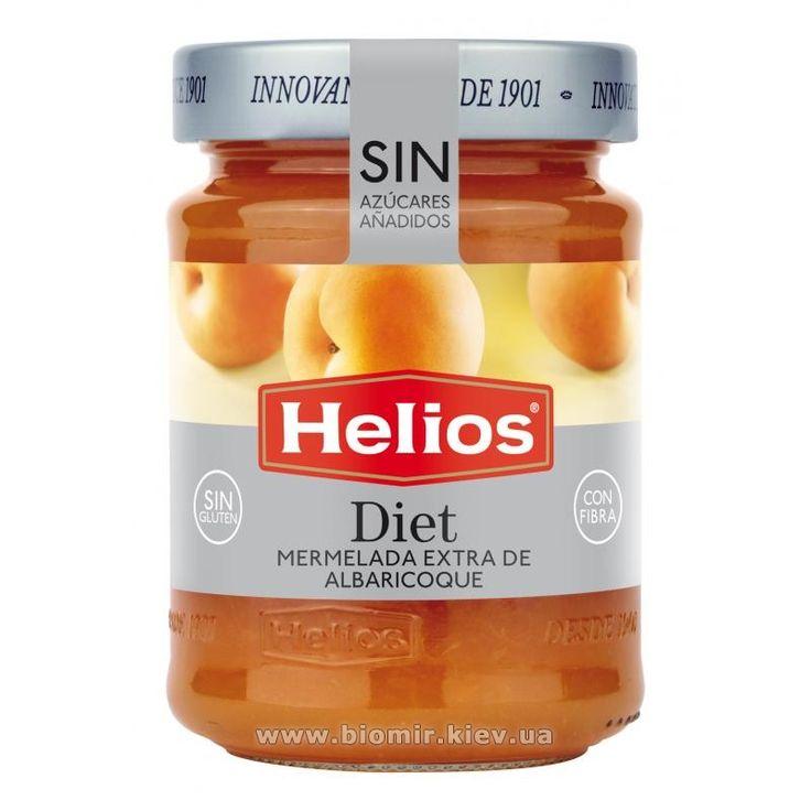 Сладости без сахара : Джем из абрикос без сахара Helios Diet 280 грамм