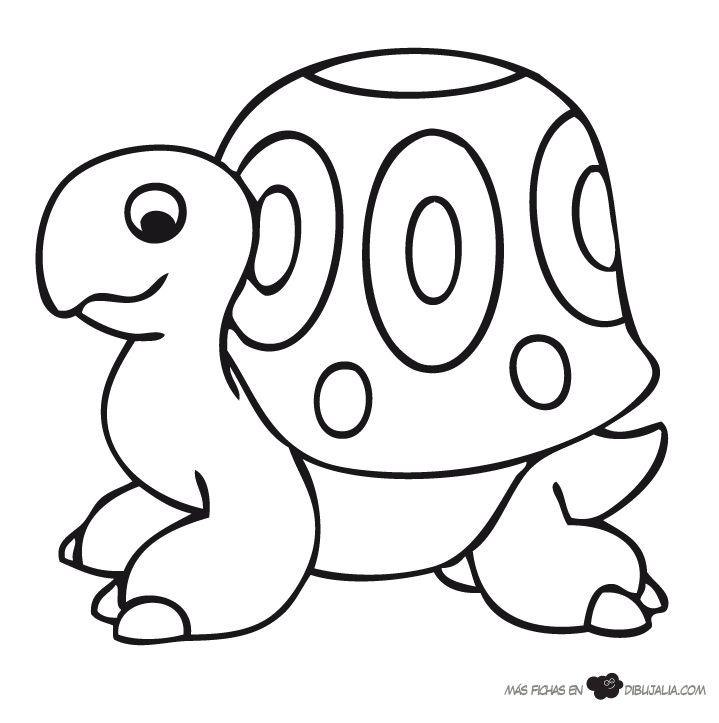 Tortuga gigante - Dibujalia - Dibujos para colorear - Animales ...