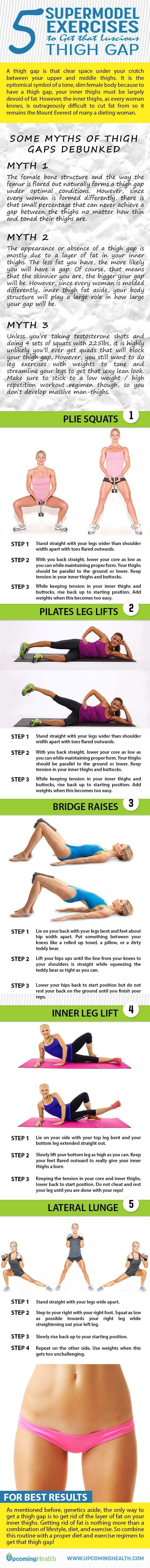The inner thighs can be outrageously difficult to cut fat from, but these 5 thigh gap exercise target the thigh area for toning in no time!
