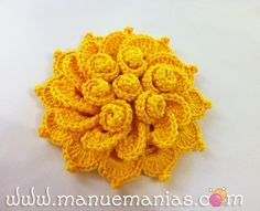 """Crochet """"Flor de Maio"""" with detailed how-to photo's & instructions, plus many other lovely flower designs"""