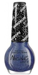 """Introducing NEW Gum Drop Collection: Nicole """"Blue-Berry Sweet on You"""" Nail Lacquer by OPI *Dries to a sugar-like finish that shimmers with hints of fine glitter*"""