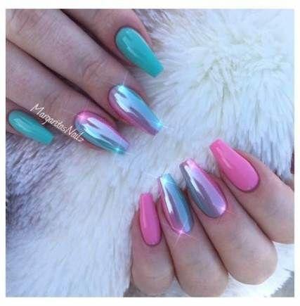 nails acrylic designs ombre glitter 40 ideas  shiny nails