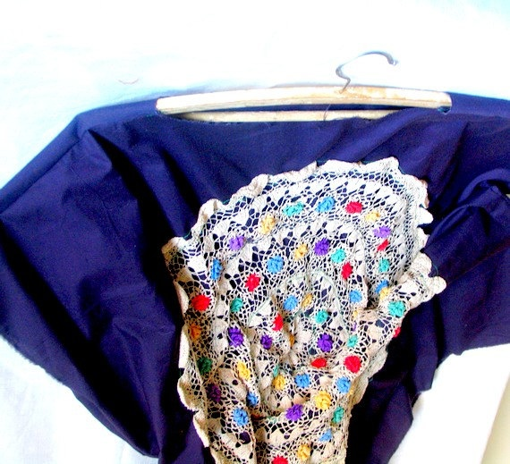 SundressPurple Tunic with a Large Napkin  Violet by recyclingroom, $75.00