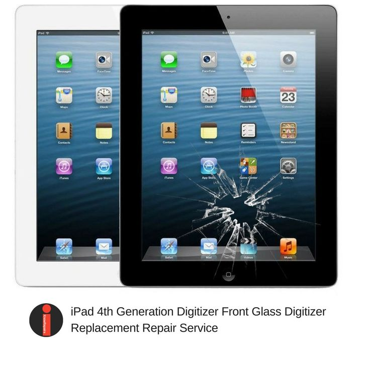Apple iPad 4th Generation Digitizer Front Glass Replacement Repair Service