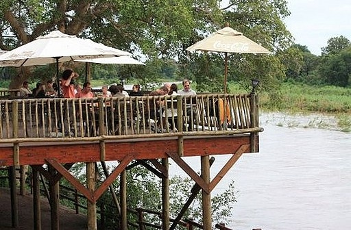 Sundowner Drinks From The Viewing Deck at Skukuza