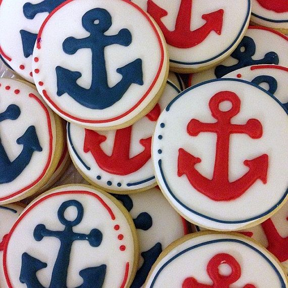 Anchor Cookies by LittlePrinceCookies on Etsy