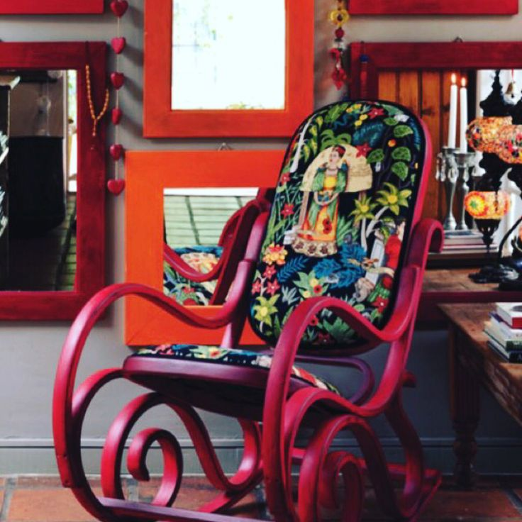 Rockin' Red Chair Tutorial - Out Now! — Get the 19 May edition of Vrouekeur Magazine and check out the step by step tutorial of how Nicolas of The Bamboo Palace created this stunning rocker done in Granny B's Paint!  Use the once-off code: VK001  online to get a single use 20% discount on all Granny B's Products.
