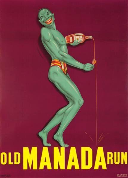 Original Vintage Posters -> Advertising Posters -> Old Manada Rum - AntikBar