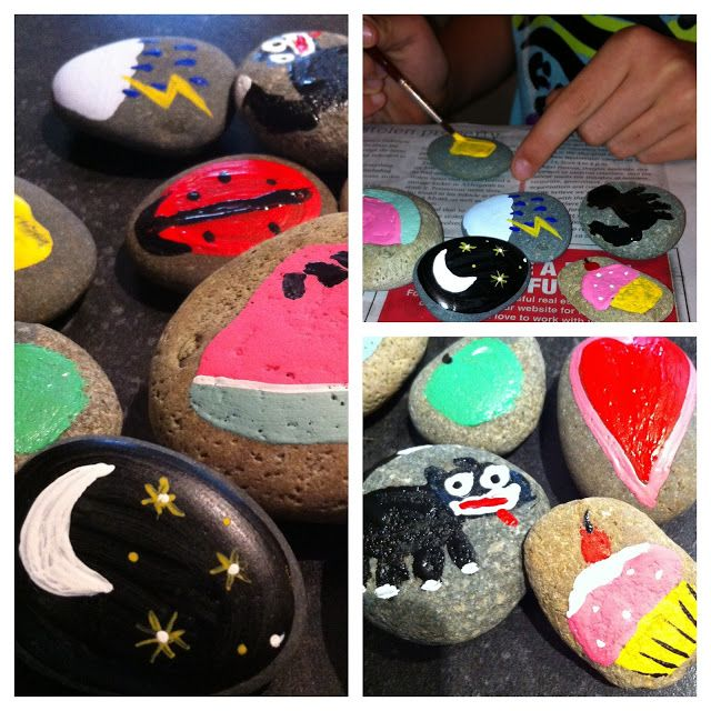 Story Stones ~ Connecting Through Play. DIY painted stones with images to make  storytelling creative and interactive. #storystones #diy #kidscrafts