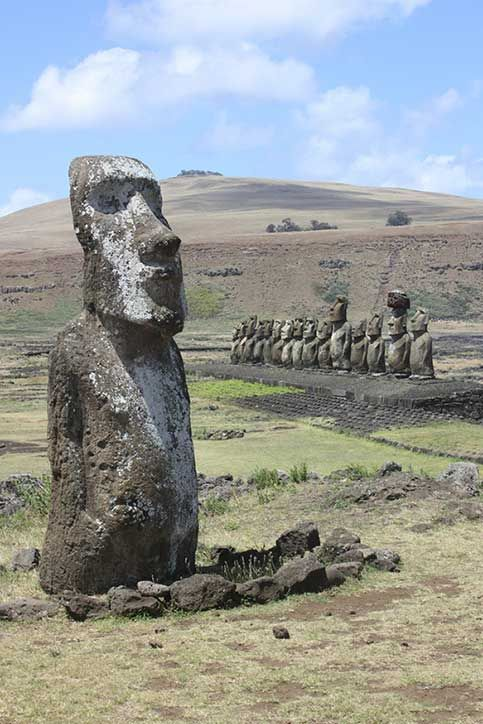 The Moai of Easter Island, Chile by Arian Zwegers