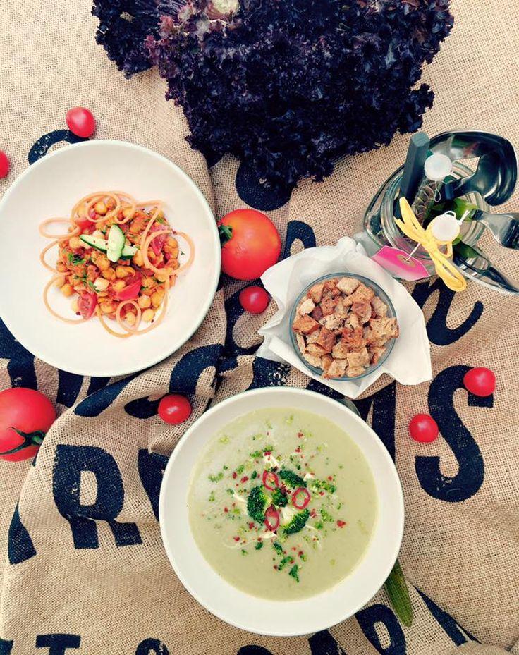 #Supa crema de #broccoli si #naut #chana #masala. Pofta buna !
