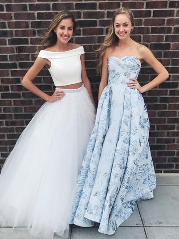 cc3cbf8f92c Thigh Split Sky Blue Rustic Wedding Dresses Beach Wedding Gown with Court  Train – SheerGirl. Two Piece ...