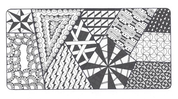 L.N.G. Original Zentangle #9 (Black & White)