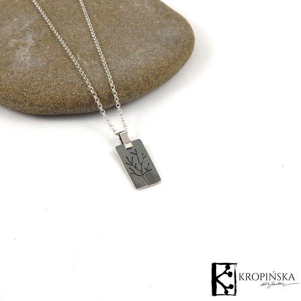 Drzewo - srebrna zawieszka na łańcuszku w Kropińska Art & Jewellery na DaWanda.com