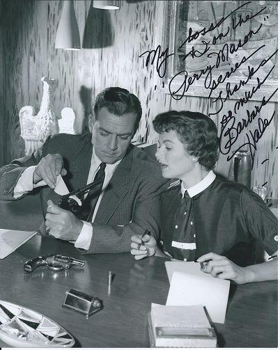 Raymond Burr and Barbara Hale in Perry Mason
