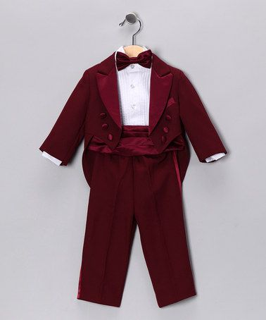 Burgundy Five-Piece Set - Infant, Toddler & Boys by Lida - ***given the nature of zulily.com - this may no longer be available - but worth a look