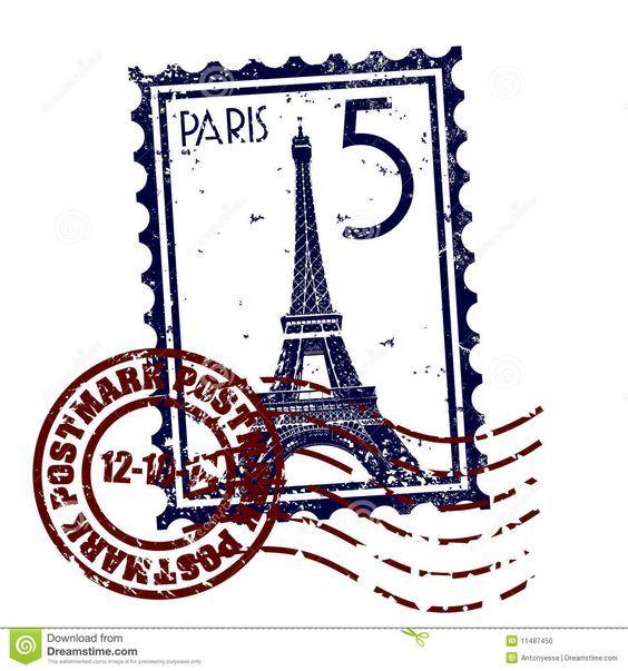 timbre postal paris - Buscar con Google