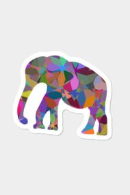 #Elephant #silhouette  #elefant #mosaic #abstract #vivid #animal #nature #fauna #stickers #colorful #digital