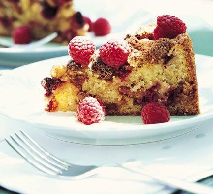 Raspberry & amaretti crunch cake recipe   One of my favourite summer bakes.