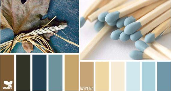 Холодный и теплый синий цвет |Сочетание цветов