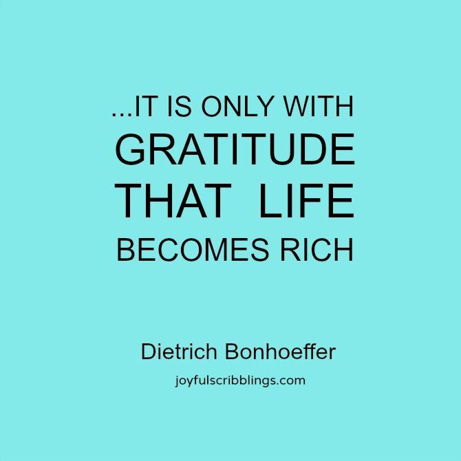 Words of Wisdom Wednesdays- thoughts on gratitude l joyfulscribblings.com