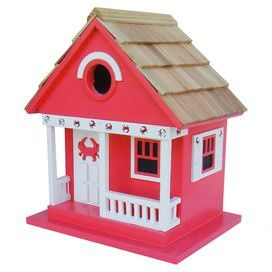 Beach Cottage Birdhouse in Red I