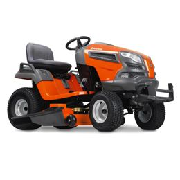 Husqvarna YT42XLS:We developed our LS series yard tractors with the discriminating landowner in mind. Engineered for added durability, comfort, style and precision, our LS series yard tractors all feature fabricated or reinforced decks and a heavy-duty chassis. The efficient, integrated washout port and optional mulch kit make these models ideal for demanding and extensive use. Then the available locking rear differential increases traction while cutting wet grass or on slopes.