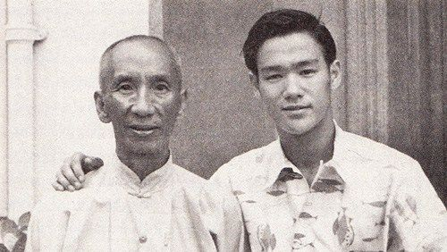 Bruce Lee (right) with his only formal martial art instructor, Yip Man //// Be Like Water: The Philosophy and Origin of Bruce Lee's Famous Metaphor for Resilience – Brain Pickings