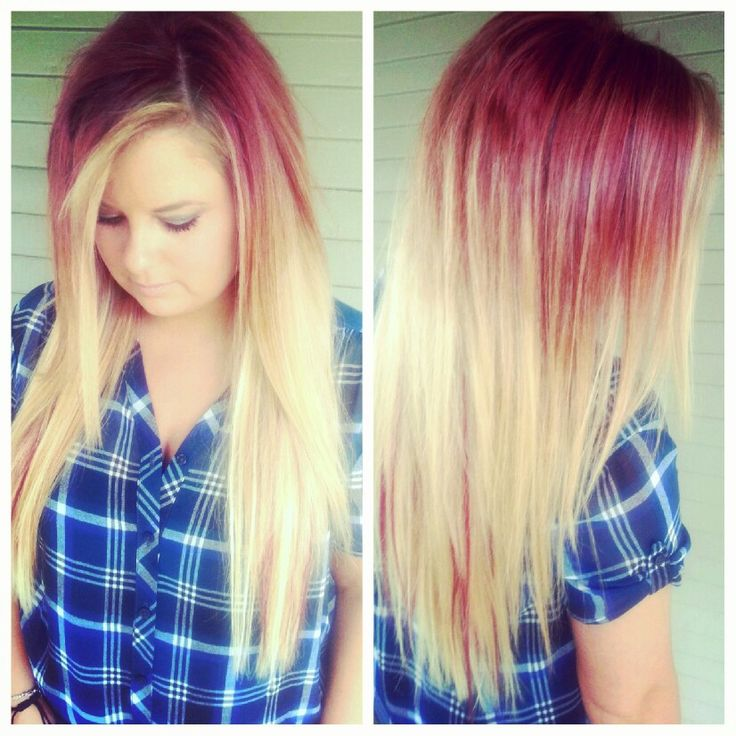 65 best goddess hair images on pinterest salons blondes and redviolet to copper to blonde ombre blonde and red violet hair extensions pmusecretfo Choice Image