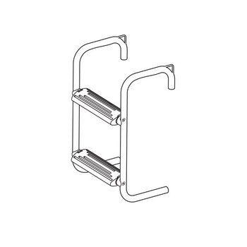 Raft  Ladder,Inox 316,2 steps