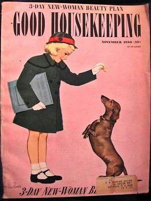 Vintage Dachshund Fun: Good Housekeeping Magazine 1950.