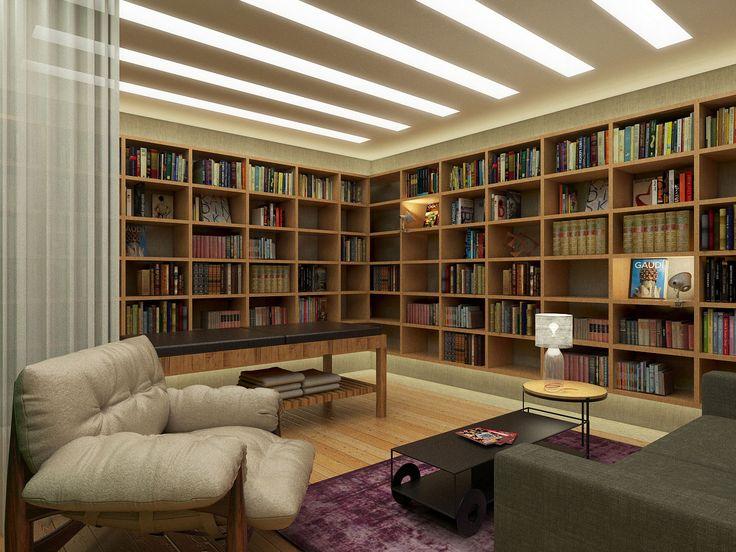 Spa Biblioteca Sala de Leitura por Marcelo Moura por Tripper Arquitetura