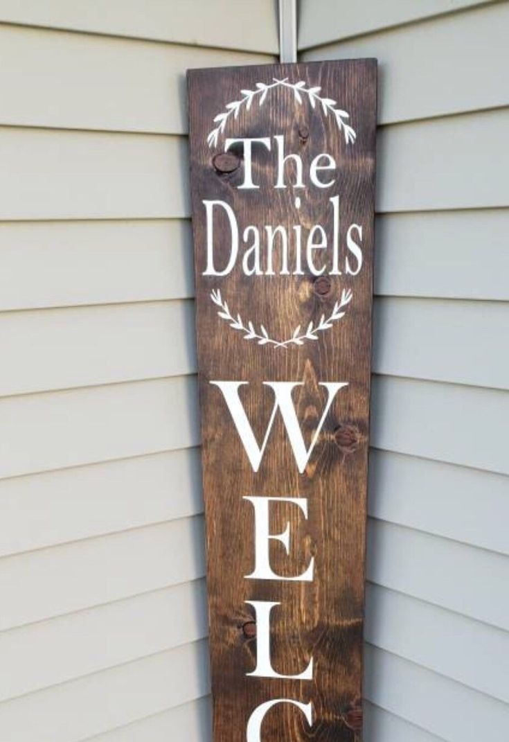 welcome signs diy - 735×1071