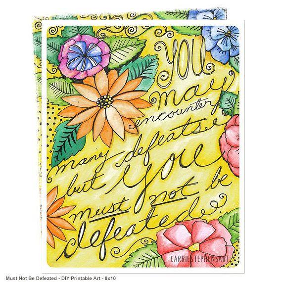 Inspirational Quote -  Digital Art Print Printable 8x10 DIY Art  #wallart #bossbabe #printable #motivationalquotes