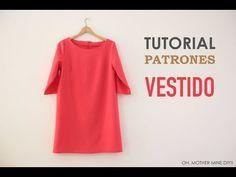 DIY Patrones y tutorial: vestido rojo básico   Manualidades                                                                                                                                                                                 Más