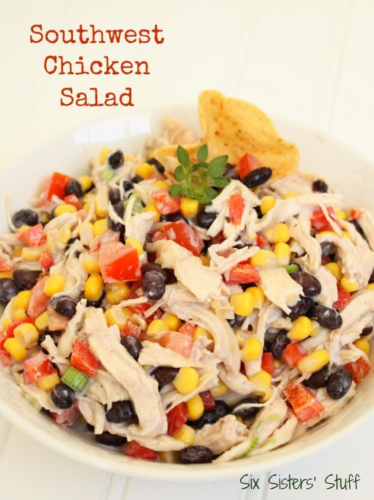 Southwest Chicken Salad from Six Sisters' Stuff is both healthy and delicious!