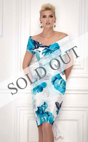 Carla Ruiz 93541, Floral Print Dress at Blessings Occasion Wear Boutique, Brighton East Sussex, BN1 5GG. Telephone: 01273 505766