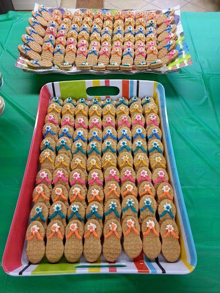 nutter butter cookies, flip-flop, luau, spring, buffet, fundraiser