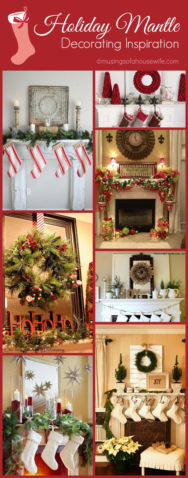 These are lovely! Mantle decorating ideas fro @Jo-Lynne ShaneChristmas Mantles Decorations, Wreaths Attached, Mantle Decorating, Christmas Decor Mantles, Large Items, Holiday Decor, Vintage Linen, Christmas Mantels, Holiday Mantle