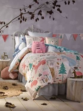 Kids Folklandia Quilt Cover Set from Linen House's Hiccups range, available at Forty Winks.