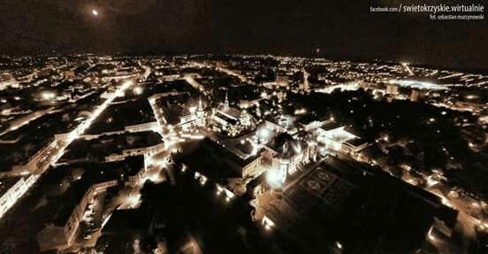 Kielce moje miasto nocą