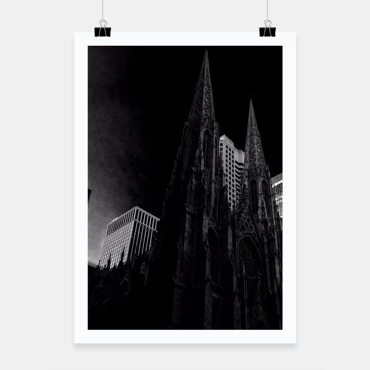 New York City cathedral Poster, Live Heroes