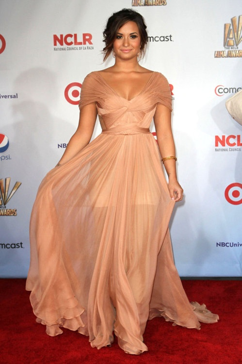 obsessed with this gown: Demilovato, Bridesmaid Dresses, Nude Dress, Gowns, Red Carpets, Celebrity Dresses, The Dresses, Demi Lovato, Role Models