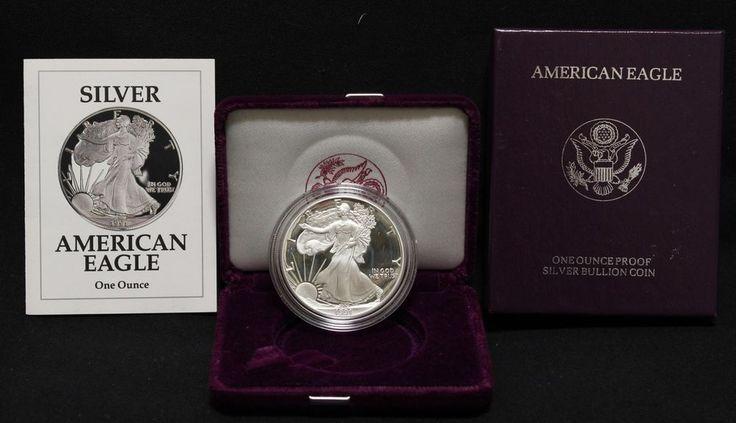 920 1991-S US MInt 1 oz Proof 999 Silver American Eagle Coin Box COA Walking Liberty #US #liberty #american #silver #eagle #coin #mint