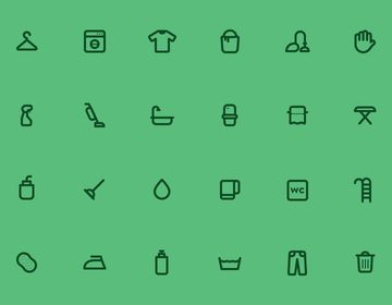 [PSD] 24 Cleaning Icons