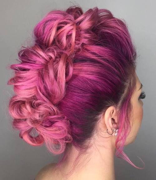 pastel+pink+mohawk+updo                                                                                                                                                                                 More